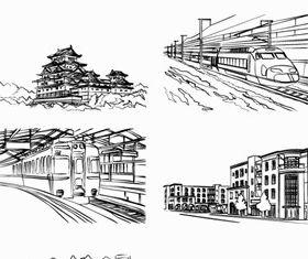 Hand drawn building 3 vector