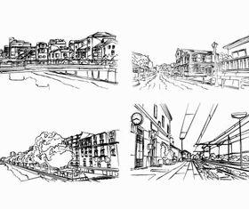 Hand drawn building 5 vector