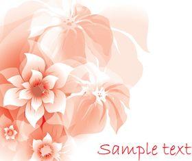 pink flower background 3 vector