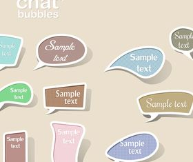 Cute chat bubbles set vector