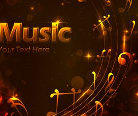 Golden music style background 1 vector