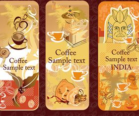 Coffee theme Vertical banner 1 vector