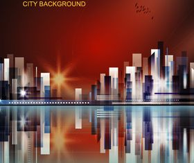 Abstract city background 5 vectors