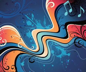 Music abstract background 1 vector