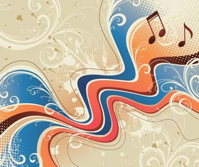 Music abstract background 2 vector