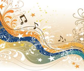 Music abstract background 4 vector