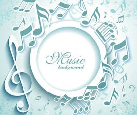 White music background set vector
