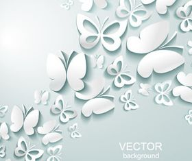 Paper cut Butterfly background 1 vector