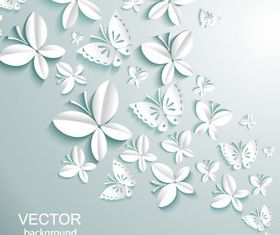 Paper cut Butterfly background 2 vector