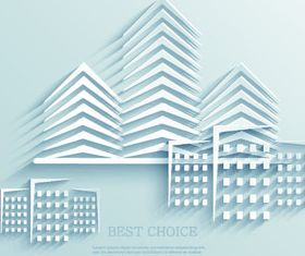 Building Paper cut vector graphic