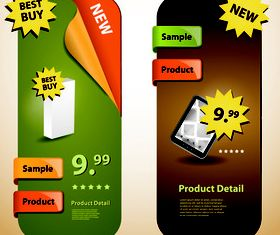 Product sale banner 3 vector