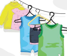 Cute Children Apparel 2 vector