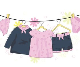 Cute Children Apparel 3 vector