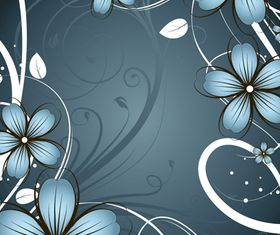 Draw flower frames 1 vector