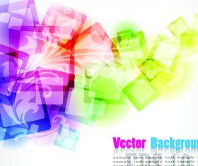 Colorful Squares concept background 1 set vector