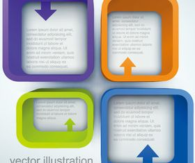 Square text boxes background 1 vector