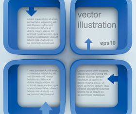 Square text boxes background 2 vector