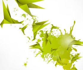 Origami with Splash background vectors graphics