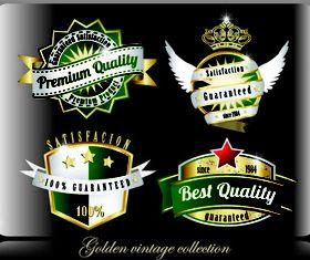 Vintage beer stickers 3 vector