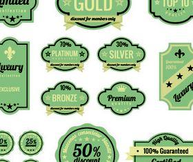 Vintage offer labels vector