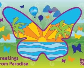 Paradise Butterfly vectors