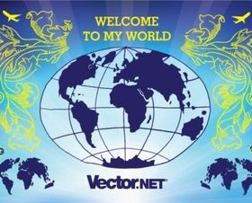 Globe Illustration vectors material