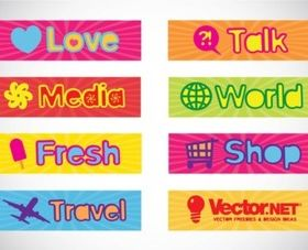 Text Banners design vector