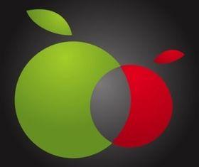Twin Apples vector