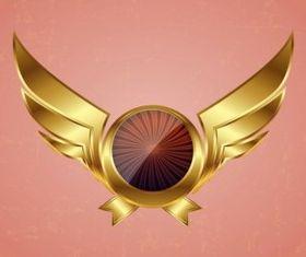 Golden Wings shiny vector