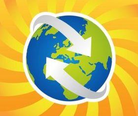 World Logo vectors material