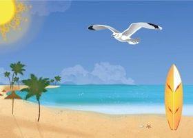 Summer Beach Art vector