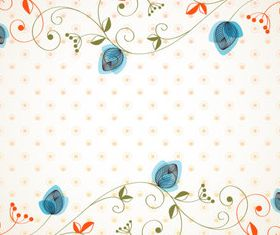 Draw cartoon flower background 3 vector