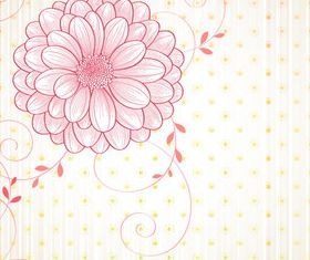 Draw cartoon flower background 5 vector