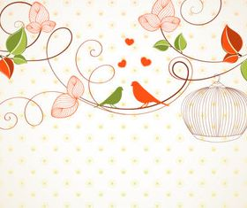 Draw cartoon flower background 6 vector