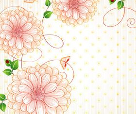 Draw cartoon flower background 7 vector