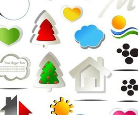 Different Color Icons shiny vector