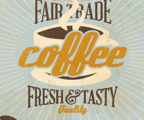 Coffee menu design elements 3 vector