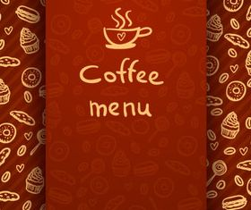 Coffee menu design elements 5 vector