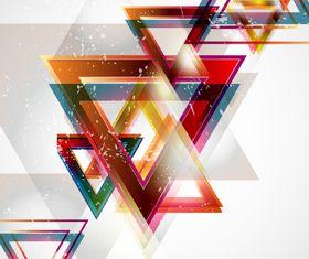 Fashion shapes shiny background 4 set vector