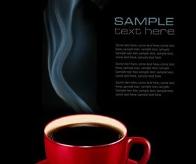 Hot coffee background creative vector