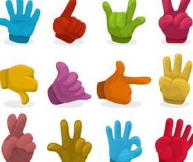 Colored hand 1 vector