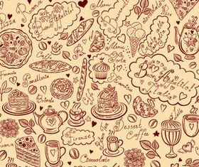 Hand drawn elements food 03 vector