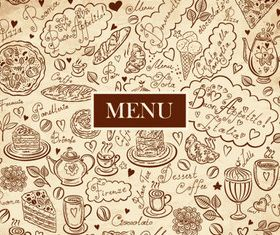 Hand drawn elements food 06 vector