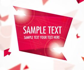 Red Origami background Illustration vector