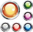 Color glass button creative vector