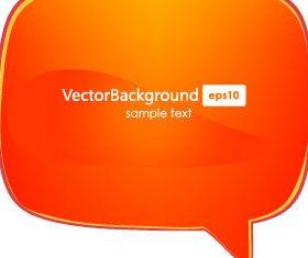 Glass texture speech bubbles 1 vector