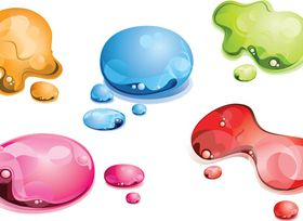 Color water drop vector