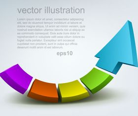 Creative Arrow background illustration vector