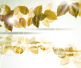 Autumn Leaves grunge background vectors material
