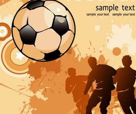 Football elements background vector